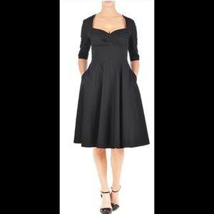 Eshakti cotton black dress size 20
